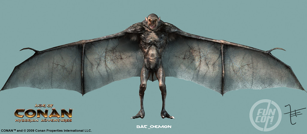 Bat Demon Rendering